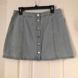Jean Button Down Skirt